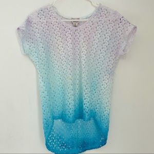 ANDREA JOVINE Upcycled Handmade Ombre Tie Dye Top